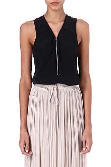 THE KOOPLES SPORT Zipped silk vest top
