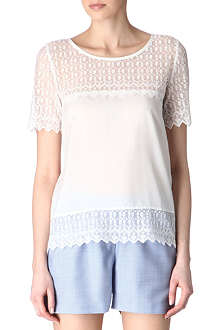 THE KOOPLES Embroidered lace top