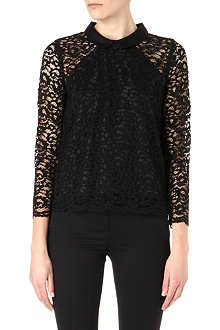 THE KOOPLES Peter Pan collar lace top