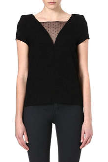 THE KOOPLES Lace-insert jacquard top