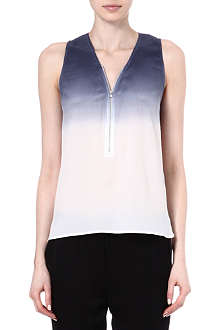 THE KOOPLES SPORT Tie-dye silk top with zip