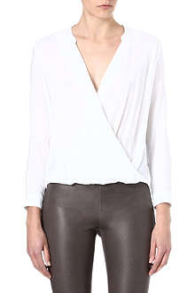 THE KOOPLES Draped crepe blouse