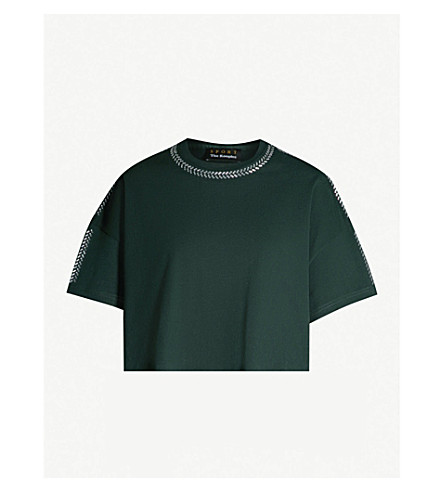 THE KOOPLES 缀饰平纹针织棉 T 恤 (Grn12