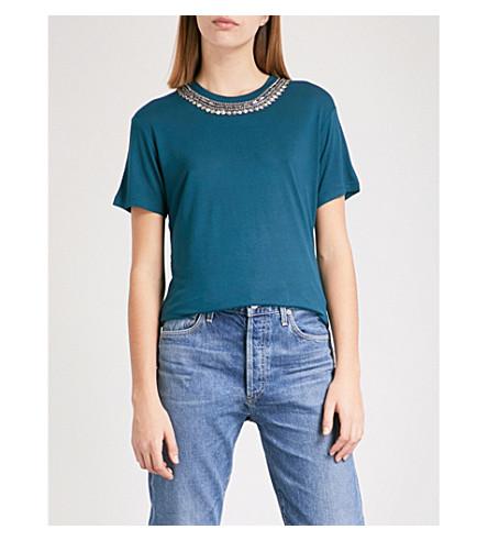 THE KOOPLES Embellished jersey T-shirt (Blu01