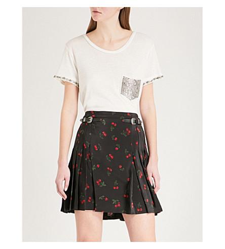 THE KOOPLES Embellished jersey-blend T-shirt (Ecr01