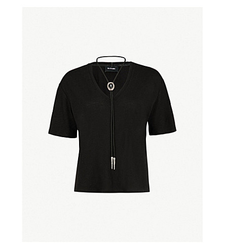 THE KOOPLES Necklace-detail woven T-shirt (Bla01