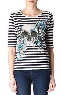 THE KOOPLES Striped skull t-shirt