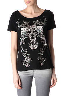 THE KOOPLES Skeleton and flower t-shirt