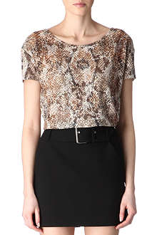 THE KOOPLES Snake-print top