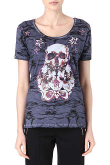 THE KOOPLES Flower Skullhead t-shirt