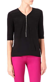 THE KOOPLES Zip-up silk-front top