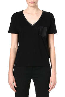 THE KOOPLES Linen and silk t-shirt