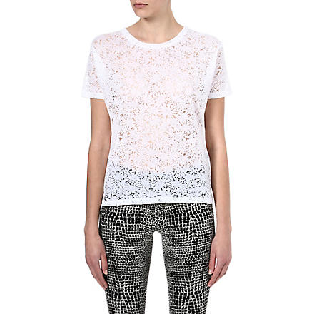 THE KOOPLES Diamonds semi-sheer t-shirt (White