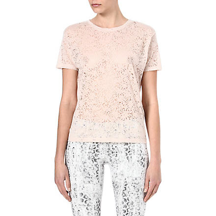 THE KOOPLES Diamonds semi-sheer t-shirt (Beige