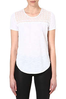 THE KOOPLES Skull-embroidered jersey t-shirt