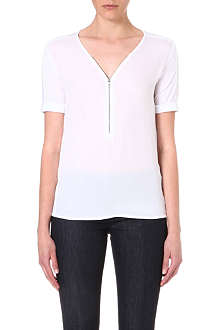 THE KOOPLES SPORT Zip front jersey t-shirt