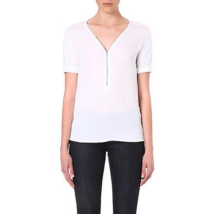 THE KOOPLES SPORT Zip front jersey t-shirt (White