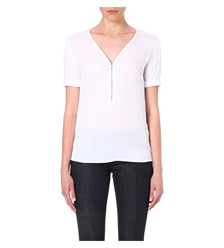 THE KOOPLES SPORT Zip front jersey t-shirt (White