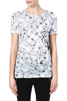 THE KOOPLES SPORT Tiger pattern t-shirt