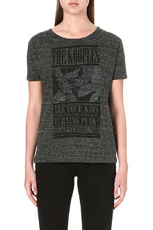 THE KOOPLES Printed semi-sheer t-shirt