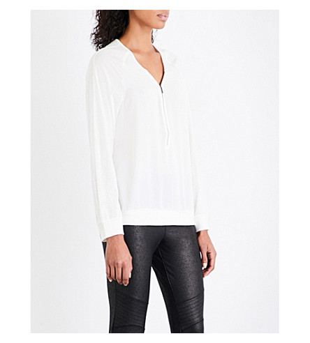 THE KOOPLES Zipped crepe and jersey top (Ecr01