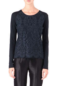THE KOOPLES Lace-panel top