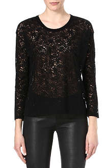 THE KOOPLES Diamonds semi-sheer t-shirt