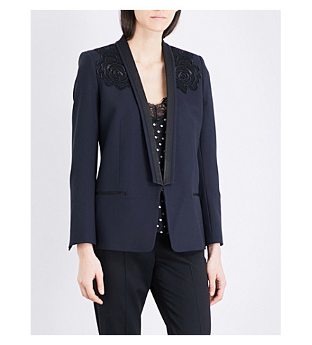 THE KOOPLES Embroidered twill blazer (Nav01