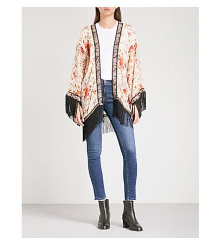 THE KOOPLES Fleurs d'artifice-print crepe kimono (Mu01