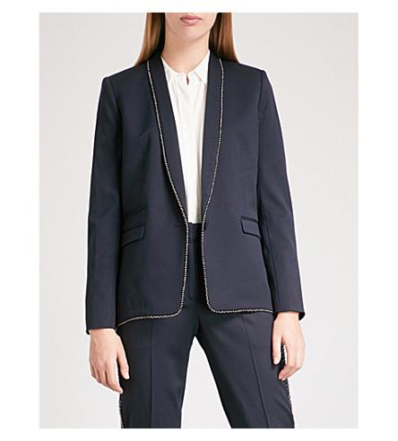 THE KOOPLES Bead-trimmed stretch-wool jacket (Nav03
