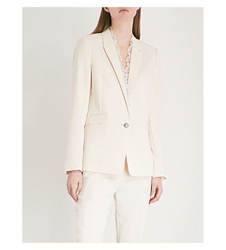 THE KOOPLES Lace-detail crepe blazer (Ecr01