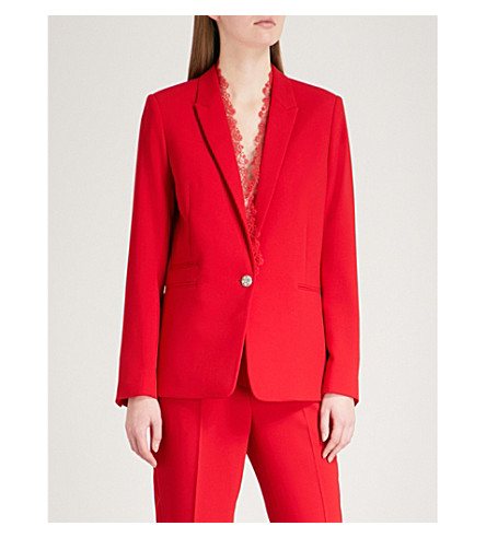 THE KOOPLES Lace-trim crepe jacket (Red38