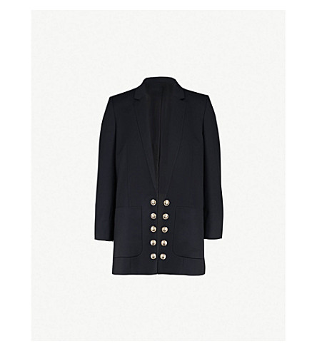 THE KOOPLES Notch-lapel stretch-wool jacket (Nav02