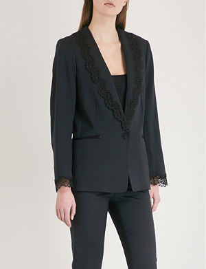 THE KOOPLES Lace detail wool blend blazer TNGBEN