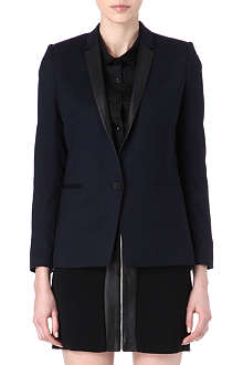 THE KOOPLES Leather-lapel blazer