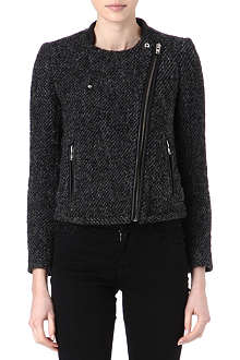 THE KOOPLES SPORT Tweed biker jacket