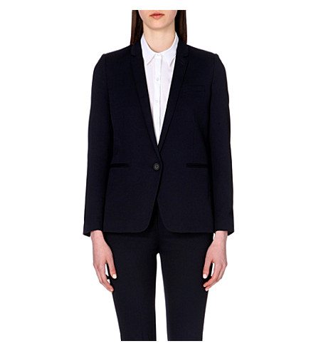 THE KOOPLES Stretch-wool blazer (Dark+navy