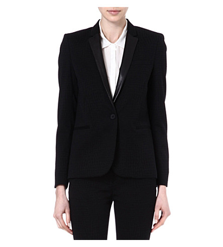 THE KOOPLES Crocodile jacquard weave jacket (Black/black