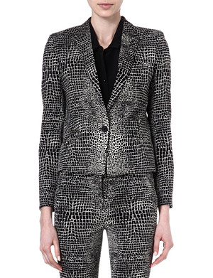 THE KOOPLES Two-tone Crocodile print jacket