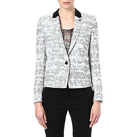 THE KOOPLES Striking tweed jacket (White - red