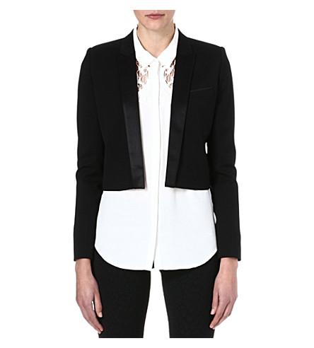 THE KOOPLES Cropped dinner jacket (Black