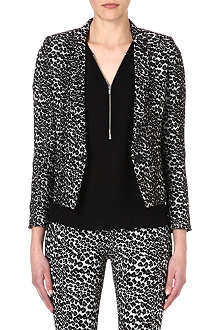 THE KOOPLES SPORT Leopard-print blazer