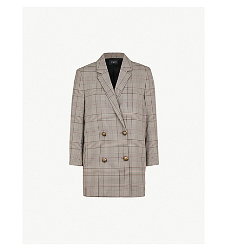 THE KOOPLES Prince-of-Wales woven blazer (Brw01