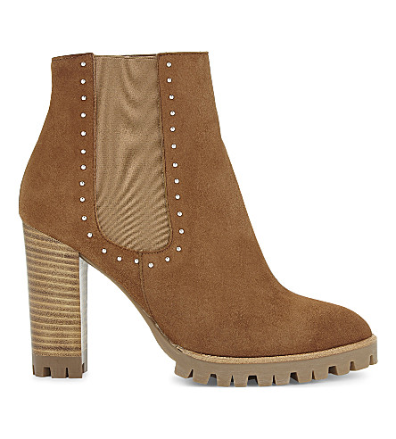 THE KOOPLES Camel suede high-heeled ankle boots (Cam01