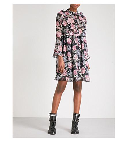 THE KOOPLES Floral-print georgette dress (Mu01