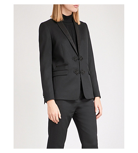THE KOOPLES Embroidered stretch-wool jacket (Bla01