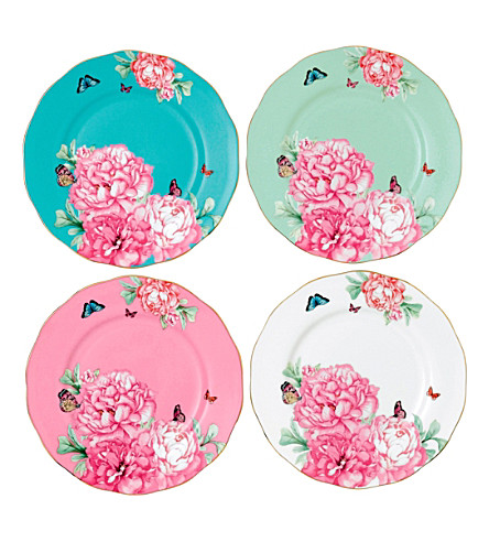 ROYAL ALBERT Miranda Kerr Friendship set of four 20cm plates