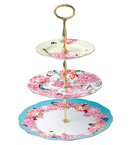 ROYAL ALBERT Miranda Kerr three-tier bone china cake stand