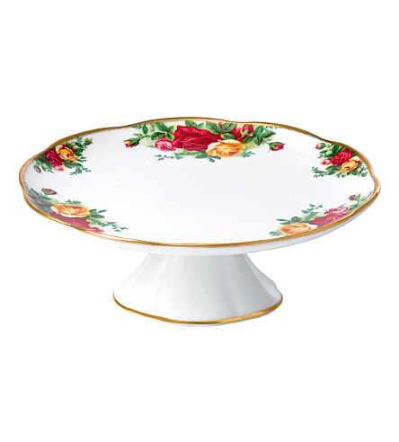 ROYAL ALBERT Olcoro s/s cake stand 17cm/6.7in (ocr)