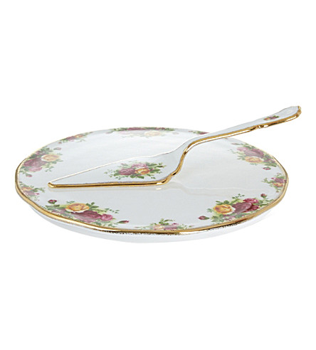 ROYAL ALBERT Olcoro cake plt&server 29.5cm/11in (ocr)